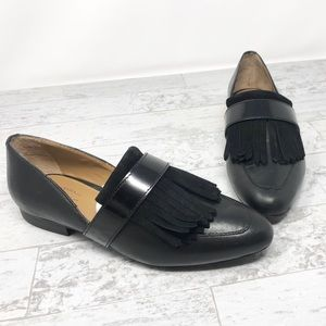 NWOB G.H. Bass & Co. Harlow Cutout Fringe Loafers